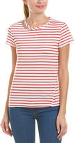 Pam & Gela Striped And Slashed T-Shirt