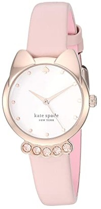 Kate Spade Cat Blush Leather Watch - KSW1617 (Pink) Watches