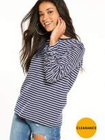 Warehouse Ruched Long Sleeve Top