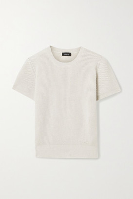 Akris Ribbed Cashmere And Silk-blend Sweater - Cream