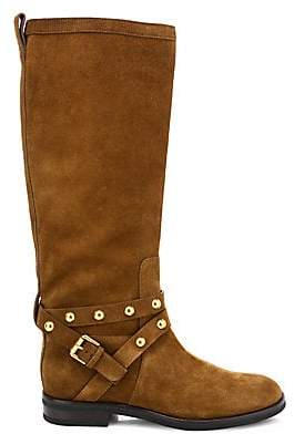 See by Chloe Women's Janis Studded Knee-High Suede Boots