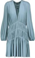 Zimmermann Adorn Gathered Stretch-Jersey Mini Dress