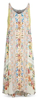 Johnny Was Abeline Floral Print Midi Dress