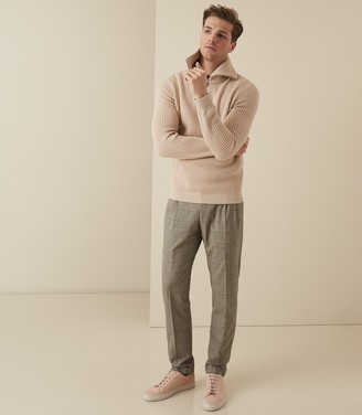 Reiss Jury - Check Trousers in Grey