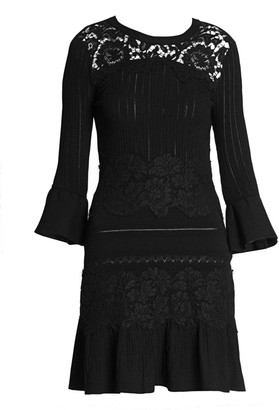 Valentino Lace & Pointelle Knit Dress