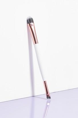 Nasty Gal Womens Brushworks Brush Hour Double-Ended Eye Brush - White - ONE SIZE, White