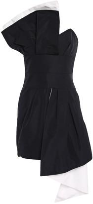 Alexandre Vauthier Strapless Pleated Draped Faille Mini Dress