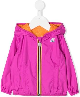 K Way Kids Two-Tone Reversible Hooded Jacket