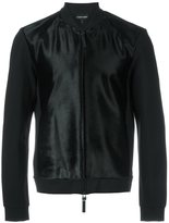 Emporio Armani textured bomber jacket