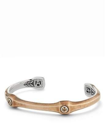 David Yurman Anvil Cuff Bracelet with Cognac Diamonds and Bronze