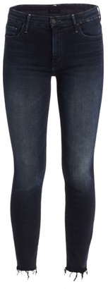 Mother The Looker High-Rise Ankle Fray Hem Jeans