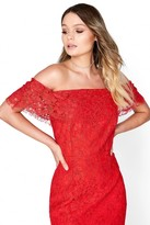 Little Mistress Red Lace Bodycon
