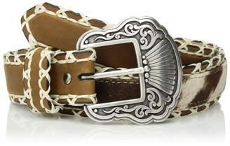 Nocona Belt Company Belt Co. Women's Stitch Edge Faux Hair Center Belt