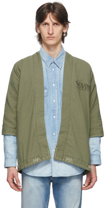 Visvim Green Sanjuro Kimono Jacket