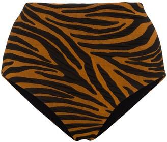 Mara Hoffman Lydia tiger print bikini bottoms