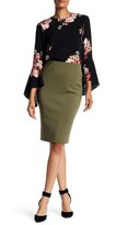 Catherine Malandrino Back Zip Scuba Pencil Skirt