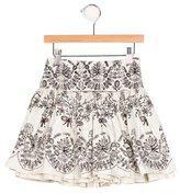 Catimini Girls' Floral Print Flare Skirt