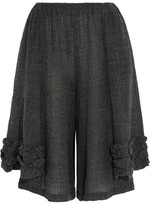 Comme des Garcons Ruffled Wool-blend Culottes - Gray