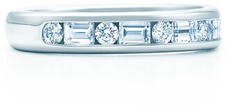 Tiffany & Co. Channel-set band ring Diamonds, platinum