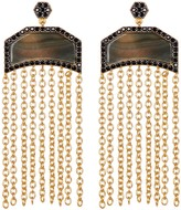 Freida Rothman Two-Tone CZ Slice Fringe Drop Earrings