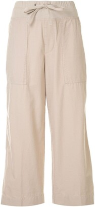 James Perse High-Waisted Cropped Trousers