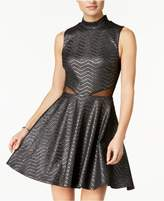 City Studios Juniors' Shine Illusion Fit and Flare Dress