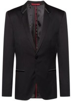 HUGO BOSS - Extra Slim Fit Dinner Jacket In Virgin Wool Twill - Black