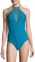 Mikoh Women's Avalon Macrame Halter One Piece Swimsuit