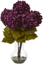 Dark Purple Hydrangea Teardrop Vase Arrangement