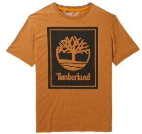 Timberland Men's Short Sleeve Stacked Logo Tee
