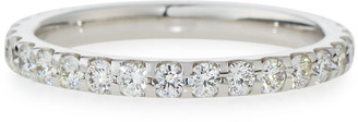 Memoire Diamond Eternity Band in 18K White Gold, 1.0 tdcw, Size 7