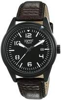 Esprit Men's Quartz Watch Chester with Black Dial and Brown Leather Strap ES106311003