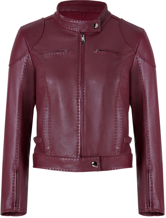 Fendi Leather Jacket in Cherry