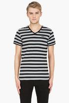 Diesel black striped UMTEE-Michael T-Shirt