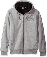 Puma Men's Sherpa Full Zip Hoody, Dark Gray Heather
