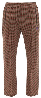 Needles Butterfly-embroidered Houndstooth Track Pants - Brown