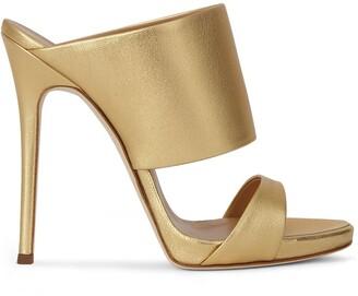 Giuseppe Zanotti Metallic Wide-Strap High-Heel Sandals
