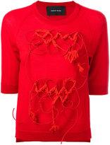 Simone Rocha appliqué detail sweater - women - Silk/Cashmere/Merino - S