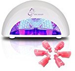 Nail Polish Dryer 12W LED Nail Lamp Manicure Curing Lamp with 4 Timmer Settings Quick Curing Gel Acrylic Shellac Gelish for Fingernails Toenails Include 6 Nail Polish Remover Caps