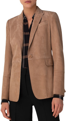 Akris Punto Suede One-Button Blazer