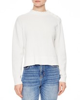 Sandro Alma Crochet-Detail Sweater