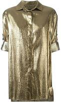 Alexandre Vauthier metallic short sleeved shirt