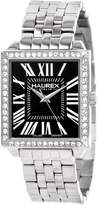 Haurex Italy Women's XS376DN1 Prestige Stainless Steel Square Crystals Watch