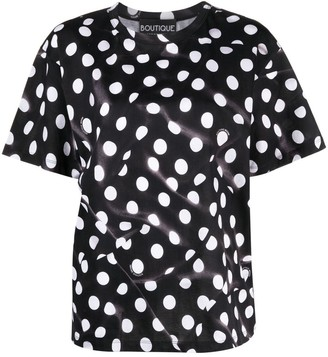 Boutique Moschino polka dot print T-shirt