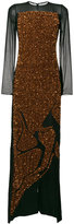 Tom Ford sequin embroidered maxi dress - women - Silk/Plastic/Polyester/glass - 38