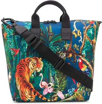 Dolce & Gabbana Jungle Print Shopper Tote Bag
