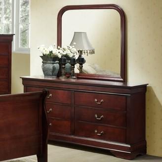 Charlton Home Braiden 6 Drawers Double Dresser with Mirror