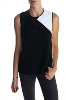Colorblock Top Black/White