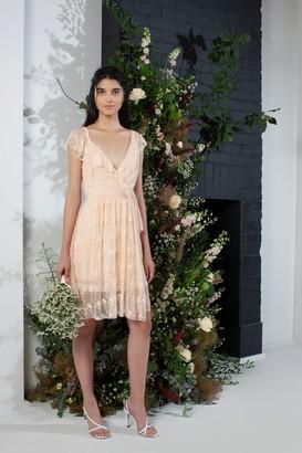French Connenction Emiki Lace Ruffle Bridesmaid Dress