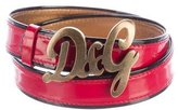 Dolce & Gabbana Patent Leather Logo Belt